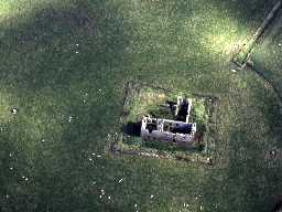 Low Chibburn Preceptory from the air. Photo by Northumberland County Council, 1997.