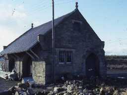 Former goods shed at Acklington Station.