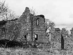 Cartington Castle. Photo Northumberland County Council, 1973.