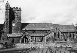 Church of All Saints, Rothbury. Photo Northumberland County Council, 1958.
