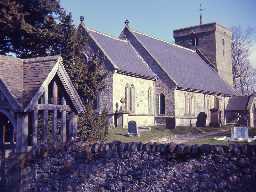 Church of St Michael, Ingram. Photo by Harry Rowland, 1960s.