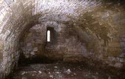The barrel vaulted basement at Hepburn Bastle, Chillingham. Photo by Peter Ryder.