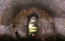 The basement barrel vault of Kyloe Tower, Kyloe. Photo by Peter Ryder.