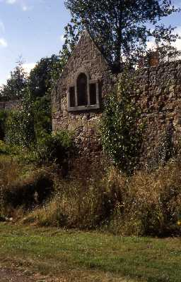 The garden walls at Berrington House showing the gable end of what may be an earlier manor house. Photo by Peter Ryder.