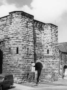 Bondgate Tower, Alnwick. Photo by Northumberland County Council, 1968.