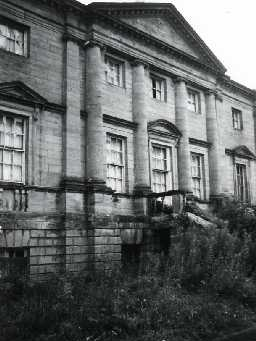 Belford Hall before restoration. Photo by Northumberland County Council.