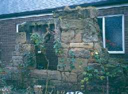 Fragment of medieval wall in Amble. Photo by Northumberland County Council.