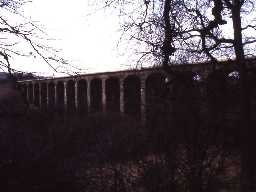 Railway viaduct over River Aln, Lesbury.