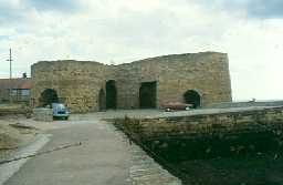 Beadnell Harbour lime kilns. Photo by Northumberland County Council.