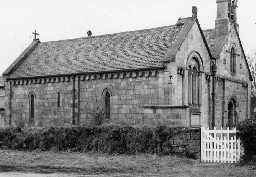 Church of St Philip and St James, Rock. Photo Northumberland County Council, 1971.