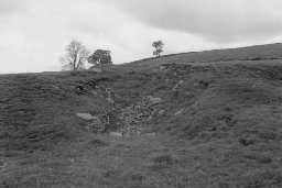Remains of Barhaugh 'C' lime kiln. Photo by Lancaster University Archaeological Unit.
