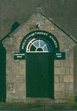 Doorway of Limestone Brae Methodist Chapel. Photo by Northumberland County Council.