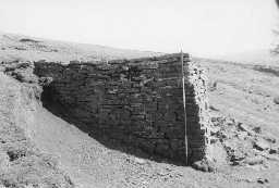 Side view of lime kiln 'B' at Hesley Well Farm. Photo by Lancaster University Archaeological Unit.