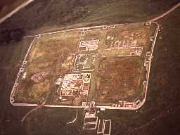 Housesteads Roman Fort from the air. Copyright Reserved: Museum of Antiquities, Newcastle upon Tyne.