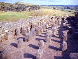Roman granaries at Housesteads.