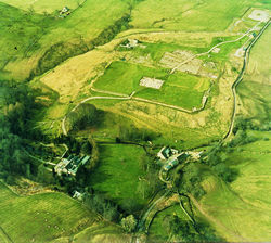 Vindolanda from the air. Photo by Vindolanda Trust.