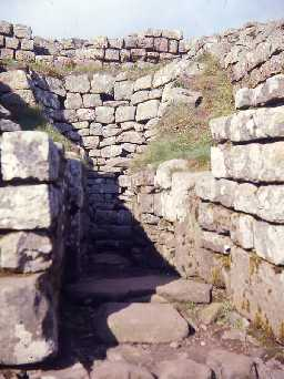 Corn drying kiln in the South Gate at Housesteads.