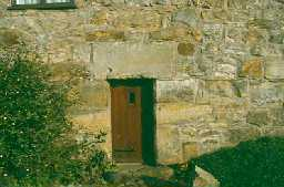 Original byre entrance at Ridley Bastle, Bardon Mill. Photo by Peter Ryder.