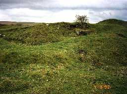 Remains of Tarset Castle, Tarset. Photo by G McCombie, 1993.