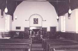 The interior of Catton Methodist Chapel. Photo by Peter Ryder.
