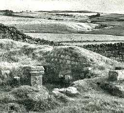 Mithraeum at Carrawburgh. Photo by Northumberland County Council.