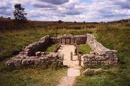 Mithraeum at Carrawburgh.  Photo © Northumberland County Council.
