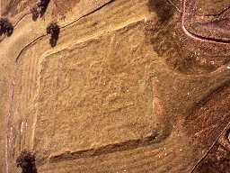 Risingham (Habitancum) Roman fort from the air.