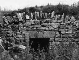 Building remains at Evistones. Photo by Northumberland County Council, 1971.