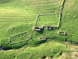 Aerial view of Branshaw deserted settlement and bastle. Photo © Tim Gates.