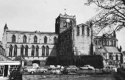 St Andrew's Church, Hexham. Photo Northumberland County Council, 1971.