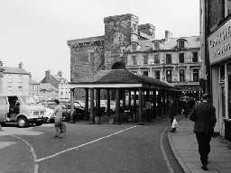 The Shambles, Hexham. Photo Northumberland County Council, 1971.