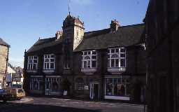 Town Hall with shops, Corbridge.