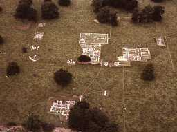 Chesters Roman Fort from the air.