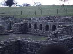 Chesters Roman bath house. Photo by Harry Rowland.