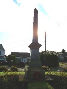 War Memorial, The Avenue, Greencroft © DCC 04.11.2009