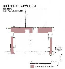 Buckshott farmhouse and byres adjoining © Ryder, P 2006