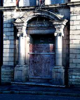 Miners' Memorial Hall - entrance detail 2003