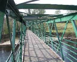 Footbridge view to Startforth   © DCC 2003
