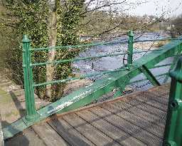 Footbridge railing detail  © DCC 2003
