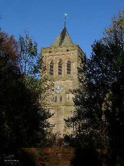 Church of St John, - tower detail 2005