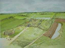 Bishop Middleham Castle and Park from the North. c.1300
