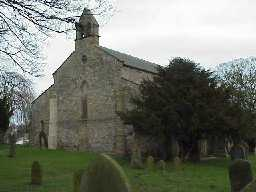 St. Michael's Church Bishop Middleham, Co. Durham. West elevation. March 2000
