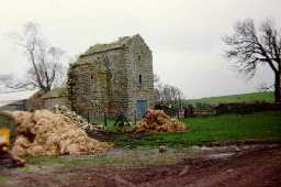 Scargill Castle Gate-house from the North.  circa 1996