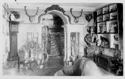 Coxhoe Hall interior. Main entrance Hall c.1910