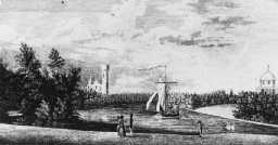 Engraving of Hardwick Park c.1787 by John Bailey