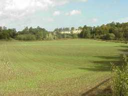The former Lake bed looking towards Hardwick Hall. October 2001