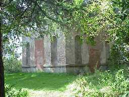 The partially dismantled Temple. October 2001
