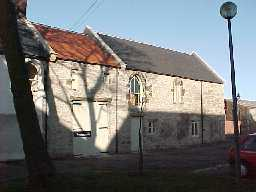 Seaton Holme, Easington. Guest wing/oratory 13th century. South elevation.  February 2000
