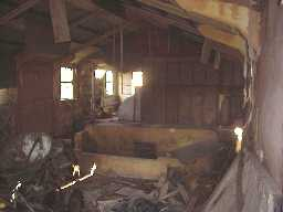 Harperley P.O.W Camp. Interior of the Theatre.  January 2001