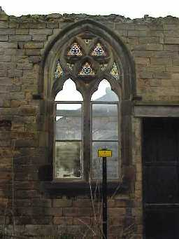 Ware Street Chapel. West Front, North Window. May 2001